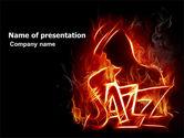 Art & Entertainment: Jazz PowerPoint Template #05158