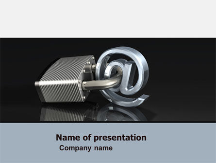 Secure Internet PowerPoint Template, 05161, Technology and Science — PoweredTemplate.com