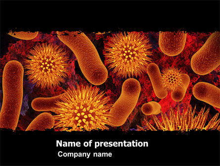 Medical: Microbiology Material PowerPoint Template #05164