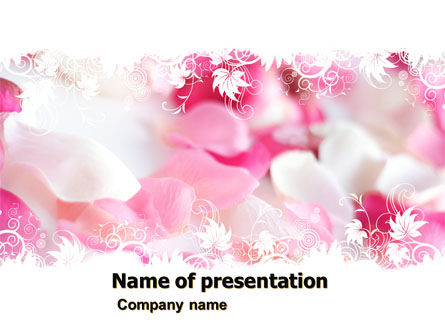 Holiday/Special Occasion: Petals PowerPoint Template #05167