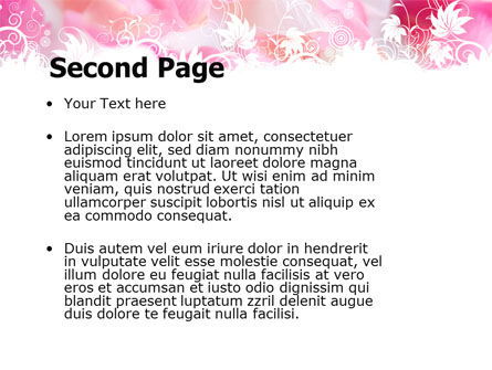 Petals PowerPoint Template, Slide 2, 05167, Holiday/Special Occasion — PoweredTemplate.com