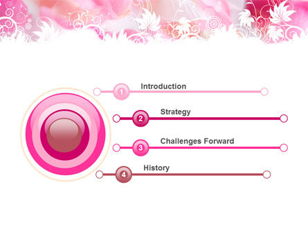 Petals PowerPoint Template, Slide 3, 05167, Holiday/Special Occasion — PoweredTemplate.com
