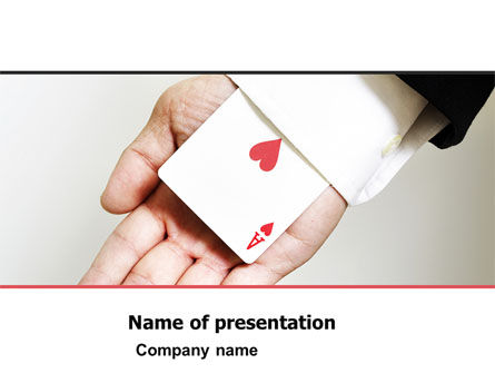 Ace of Hearts PowerPoint Template, 05168, Consulting — PoweredTemplate.com