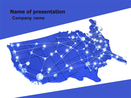 Telecommunication Network PowerPoint Template