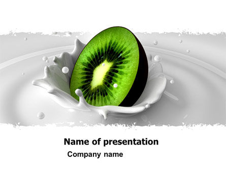 Food & Beverage: Kiwi PowerPoint Template #05172