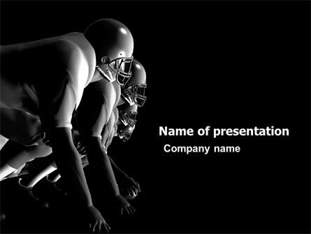 American Football Players PowerPoint Template, 05174, Sports — PoweredTemplate.com