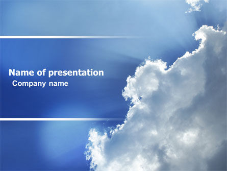 Sunshine Through Clouds PowerPoint Template, 05175, Nature & Environment — PoweredTemplate.com