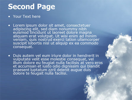 Sunshine Through Clouds PowerPoint Template Slide 2
