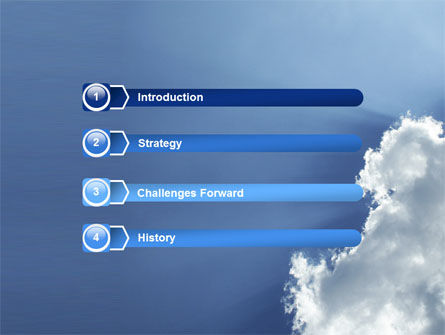 Sunshine Through Clouds PowerPoint Template Slide 3