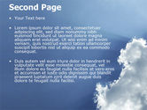 Sunshine Through Clouds PowerPoint Template#2