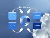 Sunshine Through Clouds PowerPoint Template#6