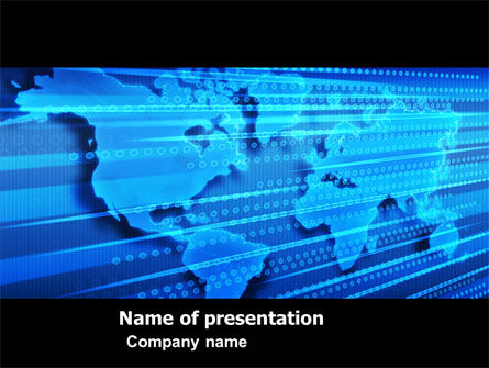 Transborder World PowerPoint Template, 05178, Global — PoweredTemplate.com