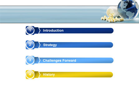 Bottle Of Tablets With Globe PowerPoint Template, Slide 3, 05180, Medical — PoweredTemplate.com