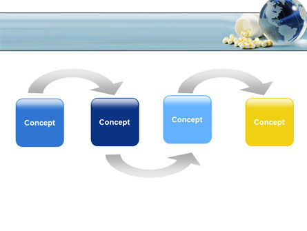 Bottle Of Tablets With Globe PowerPoint Template, Slide 4, 05180, Medical — PoweredTemplate.com