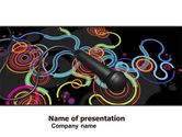 Art & Entertainment: Microphone Of 70th PowerPoint Template #05181