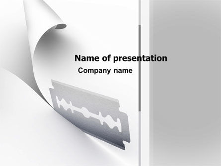 Business Concepts: Razor Blade PowerPoint Template #05182