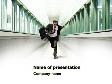 Business Concepts: Rushing Man PowerPoint Template #05184