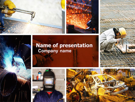 Careers/Industry: Welding PowerPoint Template #05186