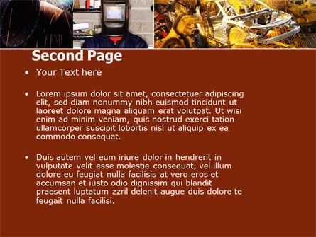 Welding PowerPoint Template, Slide 2, 05186, Careers/Industry — PoweredTemplate.com