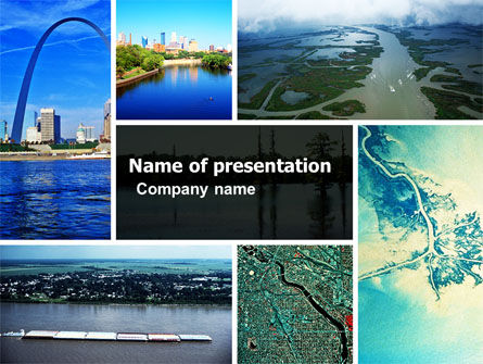 Mississippi River PowerPoint Template, 05191, America — PoweredTemplate.com