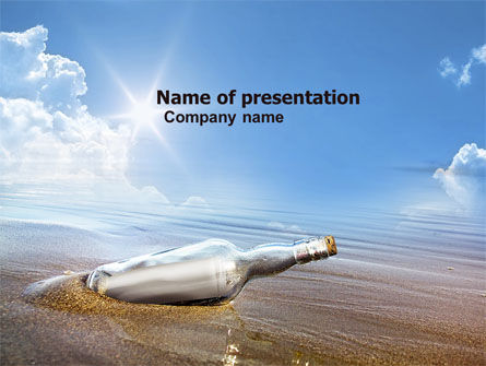 Bottle Mail PowerPoint Template