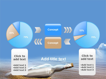 Bottle Mail PowerPoint Template Slide 11