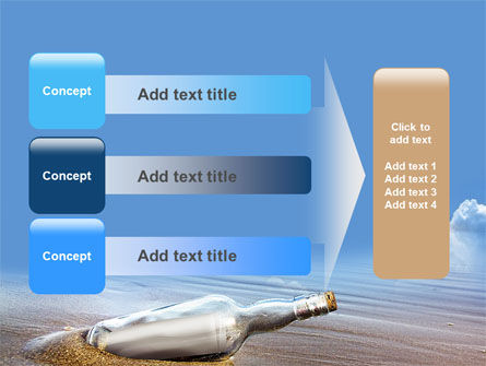 Bottle Mail PowerPoint Template Slide 12