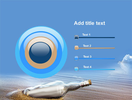 Bottle Mail PowerPoint Template Slide 9