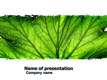 Leaf Close Up Texture PowerPoint Template