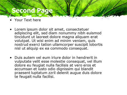 Leaf Close Up Texture PowerPoint Template Slide 2