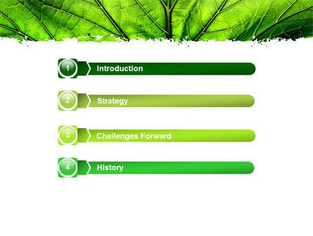 Leaf Close Up Texture PowerPoint Template, Slide 3, 05194, Nature & Environment — PoweredTemplate.com
