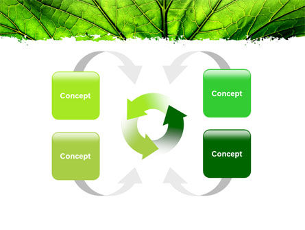 Leaf Close Up Texture PowerPoint Template Slide 6