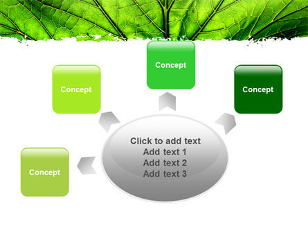 Leaf Close Up Texture PowerPoint Template Slide 7