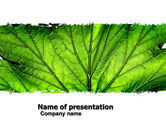 Nature & Environment: Leaf Close Up Texture PowerPoint Template #05194