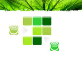 Leaf Close Up Texture PowerPoint Template#16