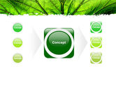Leaf Close Up Texture PowerPoint Template#17