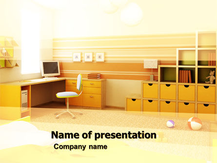 Education & Training: Kid's Room Free PowerPoint Template #05196