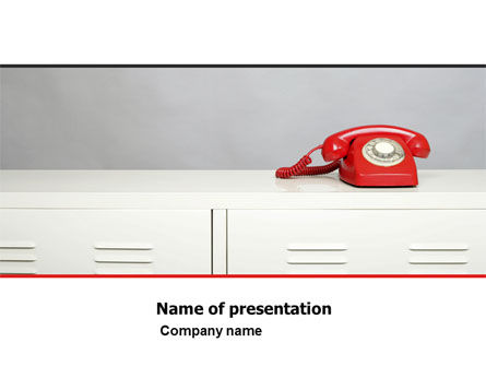 Telecommunication: Emergency Line PowerPoint Template #05198