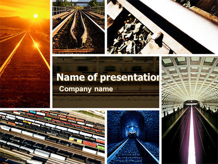 Railroad PowerPoint Template, 05199, Utilities/Industrial — PoweredTemplate.com