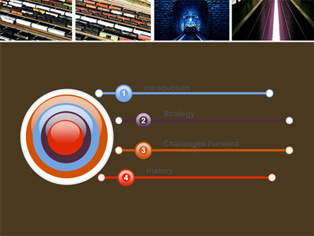 Railroad PowerPoint Template, Slide 3, 05199, Utilities/Industrial — PoweredTemplate.com