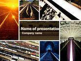 Utilities/Industrial: Railroad PowerPoint Template #05199