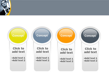 Distress In Gray Color PowerPoint Template Slide 5