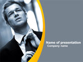 Business: Distress In Gray Color PowerPoint Template #05200
