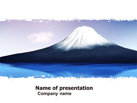 Mount Fuji PowerPoint Template, 05201, Nature & Environment — PoweredTemplate.com