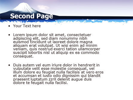 Mount Fuji PowerPoint Template, Slide 2, 05201, Nature & Environment — PoweredTemplate.com