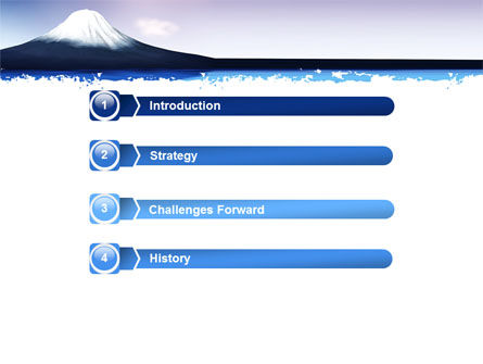 Mount Fuji PowerPoint Template, Slide 3, 05201, Nature & Environment — PoweredTemplate.com