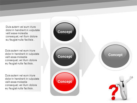 Red Question Mark Under Hand Of Man PowerPoint Template Slide 11