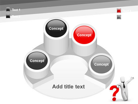 Red Question Mark Under Hand Of Man PowerPoint Template Slide 12