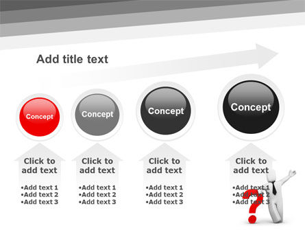 Red Question Mark Under Hand Of Man PowerPoint Template Slide 13
