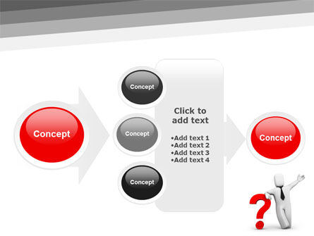Red Question Mark Under Hand Of Man PowerPoint Template Slide 17